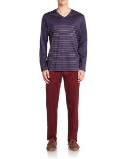 Giorgio Classic Knit Striped Pajama Set