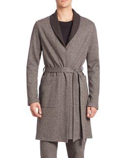 Davide Herringbone Reversible Robe