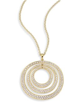 Glamazon? Concentric Diamond & 18k Yellow Gold Pendant Necklace