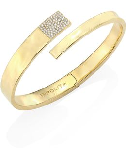 Sensotm Diamond & 18k Yellow Gold Embrace Bangle