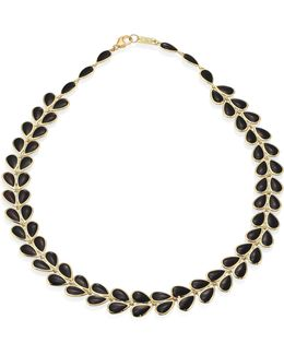 Polished Rock Candy Black Onyx & 18k Yellow Gold Necklace