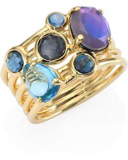 Rock Candy? Multi-stone & 18k Yellow Gold Ring