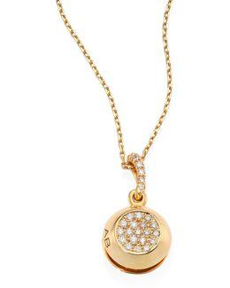 Grelot Bells Diamond & 18k Yellow Gold Pendant