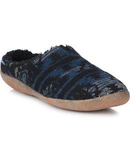 Berkeley Frayed Canvas Slippers
