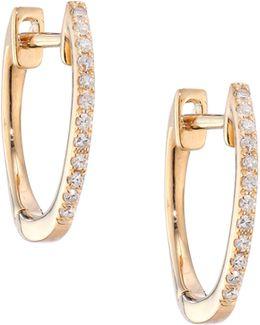 Diamond & 14k White Gold Huggie Earrings/0.5