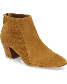 Farrow Perforated Suede Booties