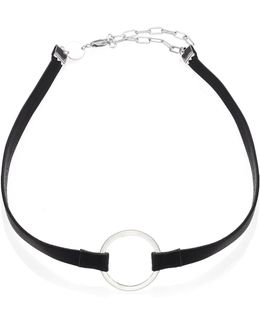 Ivy Harper Leather & Stainless Steel Choker