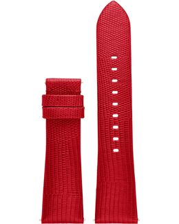 Access Bradshaw Lizard-embossed Leather Strap/red