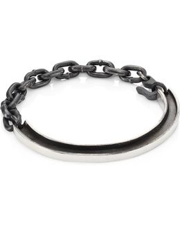 Sterling Silver Rail Id Bracelet
