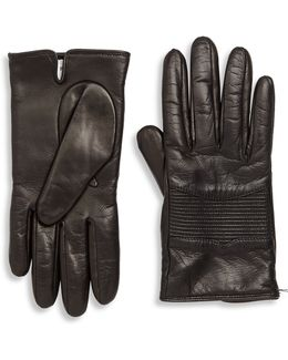 Leather Stitched Palm Patch Gloves