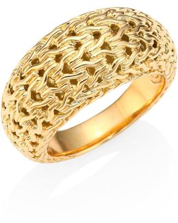 Classic Chain 18k Yellow Gold Dome Ring