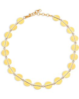 Lush Diamond, 24k Yellow Gold & 18k White Gold Necklace