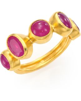 Amulet Hue Ruby & 24k Yellow Gold Ring