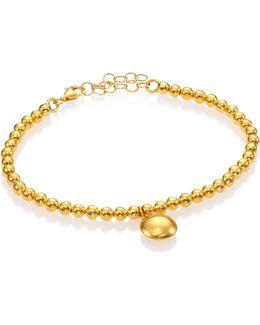 Lentil 24k Yellow Gold Bracelet