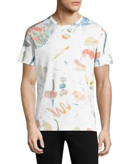 Foliage Abstract Print Tee