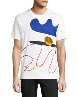 Abstract Printed Regular-fit Tee