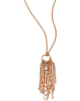 Mini Unchained 18k Rose Gold Tassel Necklace