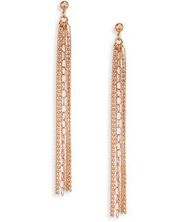 Unchained 18k Rose Gold Long Tassel Earrings