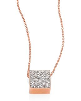Baby Diamond Ever 18k Rose Gold Pendant Necklace