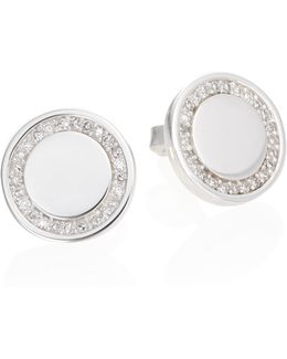 Cosmos Diamond & Sterling Silver Stud Earrings