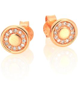 Mini Cosmos Diamond & 14k Rose Gold Stud Earrings