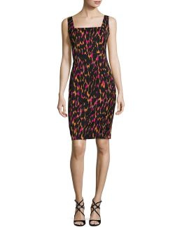 Bewitching Leopard-print Sheath Dress
