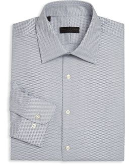 Geometric Regular Fit Dress Shirt