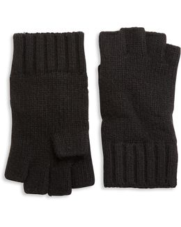 Solid Knit Cashmere Gloves