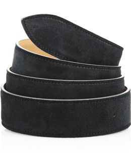 French Calf Suede & Leather Belt