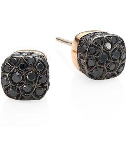 Nudo Black Diamond & 18k Rose Gold Stud Earrings