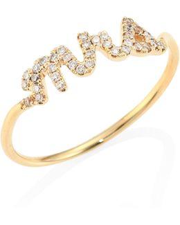 Mrs. Diamond & 14k Yellow Gold Ring