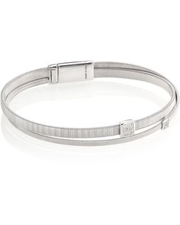 Masai Diamond & 18k White Gold Two-row Bracelet