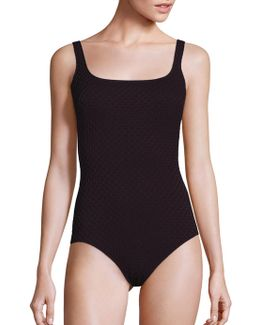 One-piece Diamond In The Rough Squareneck Tank Swimsuit