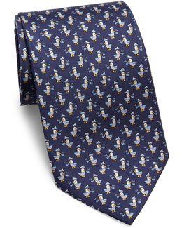 Mailbird Print Silk Tie
