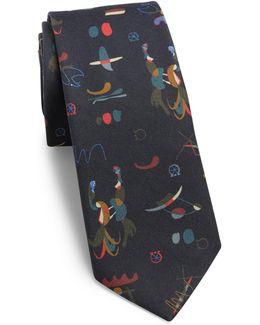 Artist Printed Silk Tie