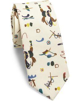 Artist Print Silk Tie