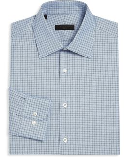 Regular-fit Plaid Dress Shirt