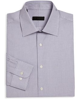 Regular-fit Checked Dress Shirt