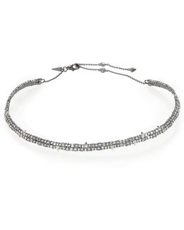 Crystal-encrusted Spiked Choker