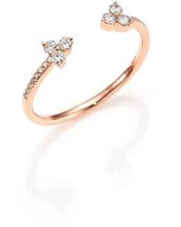 Open Diamond & 14k Rose Gold Ring