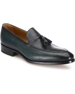 Saks Fifth Avenue By Magnanni Tassel Leather Loafers