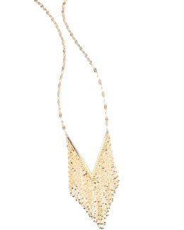 Mega Fringe 14k Yellow Gold Pendant Necklace