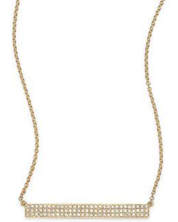 Jumbo Bar Diamond & 14k Yellow Gold Pendant Necklace