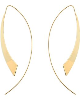 Large Gloss Hooked On Hoops Threader Earrings