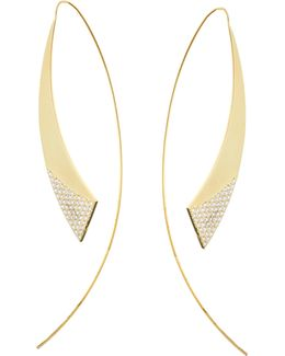 Small Gloss Hooked On Hoops Threader Earrings