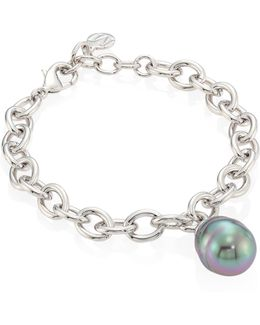 14mm Grey Baroque Pearl Bracelet