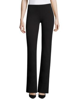 Structured Solid Trousers