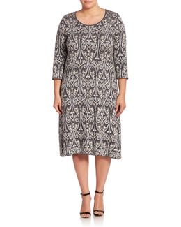 Gita Paisley Jacquard Shift Dress