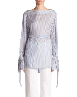 Keith Bis Belted Stripe Shirt