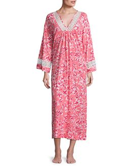 Printed Pima Cotton Caftan
